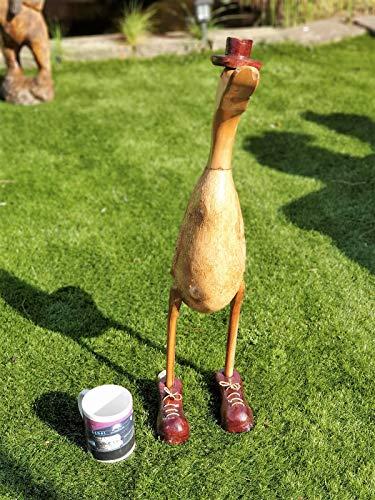 kenai Bambuswurzel-Ente XXL mit Hut + Schuhen ca.60 cm, Holz Laufente XXL mit Hut + Schuhen, Bamboo Root Duck XXL, Wooden Duck in XXL with Hat + Shoes
