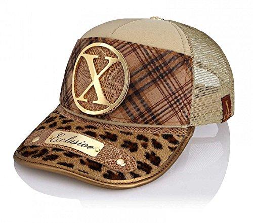 Xtress Exclusive gorra de diseño en tonos marrones para hombre y mujer.