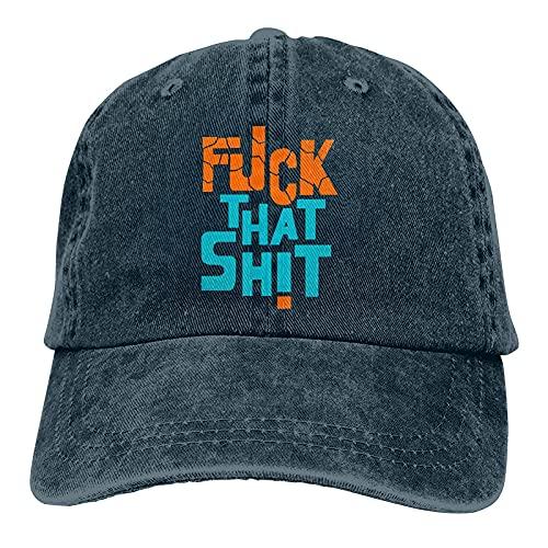 Gymini FCK That Shit Hat, gorras de béisbol ajustables lavables de algodón sombrero de vaquero para hombres y mujeres azul marino
