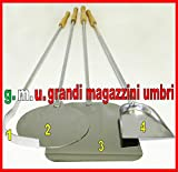 GMU GRANDI MAGAZZINI UMBRI Kit Pale per Pizza Forno A Legna Set Pale per Pizza 4 PZ Set Pala PIZZE...