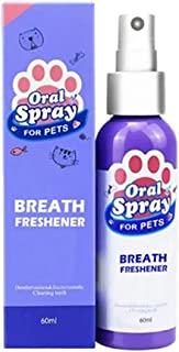 Syfinee Dog Breath Freshener Pet Spray Dog Oral Care Bad Breath Teeth Cleaning Breath Freshener Plaque Remover Freshen Breath While Reducing Dental Plaque and Tartar Build-Up Without Brushing