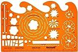 Plantilla de Dibujo Técnico Escala 1:50 y 1:100 Diseño Arquitectura Paisaje Símbolos Planificación Jardín Plantas Arquitecto