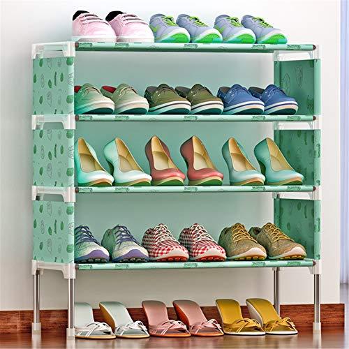 Jianghuayunchuanri Zapatero de 4 capas para zapatos, 12 grandes cajas de almacenamiento de zapatos no tejidas para encontrar fácilmente tus propios zapatos (color: A2, tamaño: 58 x 26 x 63 cm)