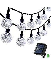 Geemoo Lichtsnoeren voor buiten, 9M 60 LED Solar Lichtsnoer Buiten