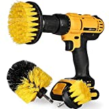 [3 Pack Set] Auto Detailing Drill Brush Set, Wheel Cleaner Brush, Car Cleaner Wash Brush Supplies Kit Fit Tire, Car Mats, Floor Mat, Bathroom and Auto Power Scrubber Brush Cleaning Sets