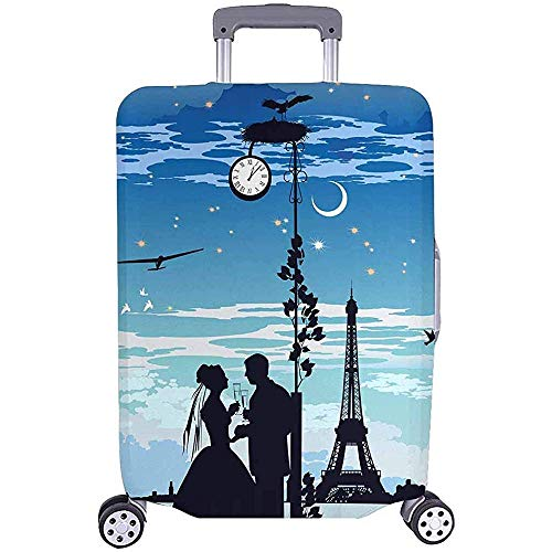 All Over Print Luggage Covers Suitcase Protective Covers The Bride and Groom Fit Luggage Size M