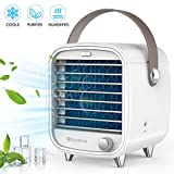 SUNGYIN Personal Space Air Conditioner, 4 in 1 Personal Space Air Cooler -Mini Air Conditioner Fan, Purifier, Humidifier, LED Night, Desktop Cooling Fan for Home Room Office