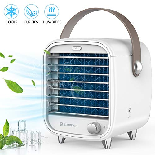 SUNGYIN Personal Space Air Conditioner, 4 in 1 Personal Space Air Cooler -Mini Air Conditioner Fan,...