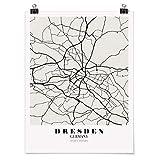 Bilderwelten Poster Wanddeko Kunstdruck Stadtplan Dresden -