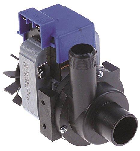 Bomba de desagüe GRE 50 Hz, salida de 23 mm de diámetro, entrada de 30 mm, 230 V, 100 W, apta para Comenda, Hemerson, Sammic para lavavajillas y olla
