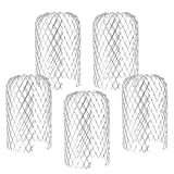Binjor 5 Piezas Filtros del Canalón Aluminio Expandible 3 Pulgadas para Exteriores Colador protección bajante Rejilla Filtro de Hojas Cubiertas de Bajante evita la obst
