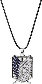 AILUOR Attack On Titan Collar, Collar con Colgante del Cuerpo de investigación, Collar de Cosplay de alas de Libertad, joy...