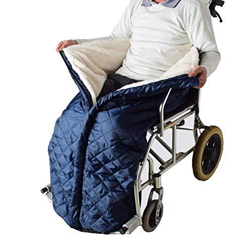 Massage-AED Rollstuhldecke Beindecke,Rollstuhl-Decke mit Zipper, Cashmere-Gefüttert & Wasserdicht, Universal fit für manuell und elektrisch betriebene Rollstühle, maschinenwaschbar