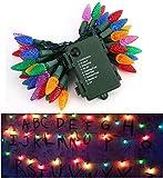Guirnalda Luces, Inspirado por Strangers Things Cadena de Luces bolas led decorativas Guirnaldas Luminosas para Exterior,Interior,Jardines Fiesta de Navidad