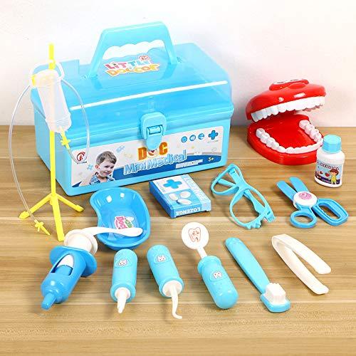 LYing Juego de Juguetes dentales para niños, Juego de simulación de casa de Juguetes, Kit médico, Dentista, Caja de Herramientas para médicos.