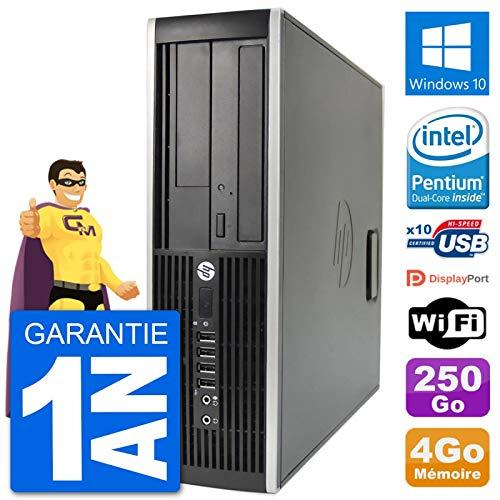 bon comparatif Ordinateur HP Compaq 6200 Pro SFF Intel G630 RAM 4 Go 250 Go Disque dur Windows10 WiFi (après récupération) un avis de 2021