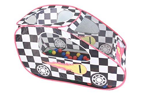 International Buying Services Pop-Up-Racing playtent mit 100bunten Play –, Pop-Up-Zelt, Bälle, mit Design der Flagge Anti-Popup playtent–Kinder Spielen Zelt