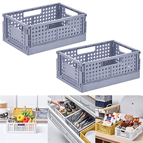 Barrageon 2 Piezas Caja Plegable Organizadora Almacenaje Multiuso Almacenamiento Cesta Comestibles Juguetes...