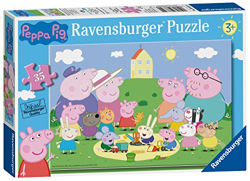 Ravensburger 08632 Puzzle Peppa Pig, Puzzle 35 Piezas, Rompe