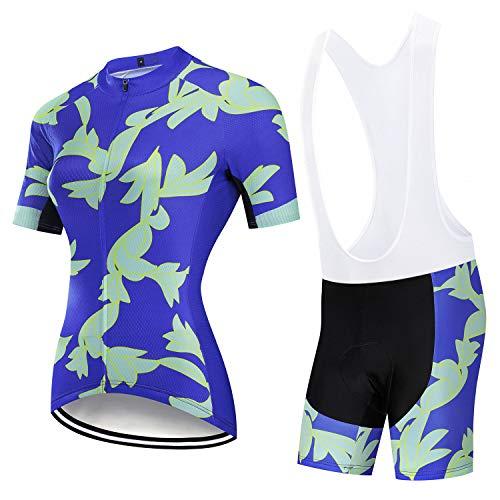 YXX Ropa Ciclismo Mujer Verano Trajes De Ciclismo Equipacion Acolchado 3D para Deportes Al Aire Libre Ciclo Bicicleta,Azul,4XL