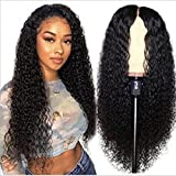 Body Wave Headband Wig Synthetic Long Black Wavy Wig for Black Women Glueless Wig with Headband Attached 180% Density Heat Friendly 26 inch