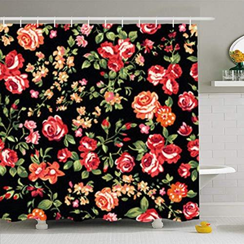 Cortinas de baño/Bath Curtain, Shower Curtains 72 x 72 Inches Black F