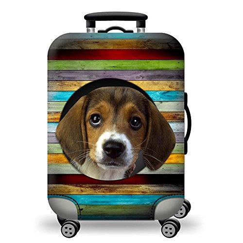 JMM Dicker Kofferschutzhülle Hund Elastic Gepäck Koffer Abdeckung S-XL (18-31 Zoll)