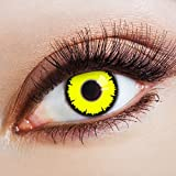 aricona Kontaktlinsen Farblinsen - Gelbe Kontaktlinsen - Halloween Kontaktlinsen farbig ohne Stärke