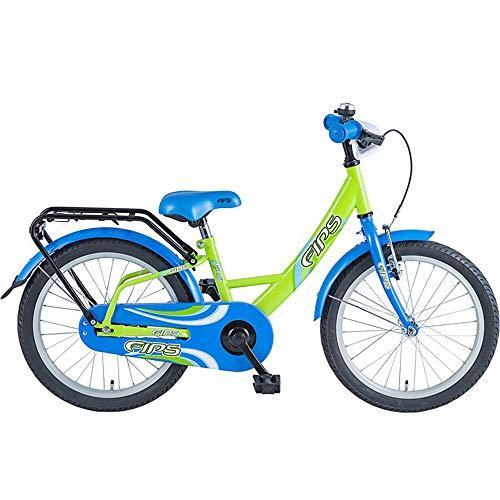 BBF Fips 18 Zoll Kinderrad Kinderfahrrad ab 5 Jahren ab 115 cm Kinder Fahrrad (grün/blau)