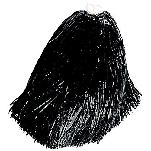 NET TOYS Pompon Pompom Girl Pompon Noir Pompom Boule de Poils Pompon de Danse Accessoires déguisement Accessoire