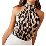 NOBRAND Camisas de Mujer con Estampado de Leopardo Tops Blus