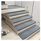 GJX-Treppenmatte Stufenmatte Treppen-Teppich Rechteck Einfarbig Selbstklebend Kurzer Flaum Rutschfest 4 Farben 5 Größen (Color : A- 26X75CM, Size : 5pcs)
