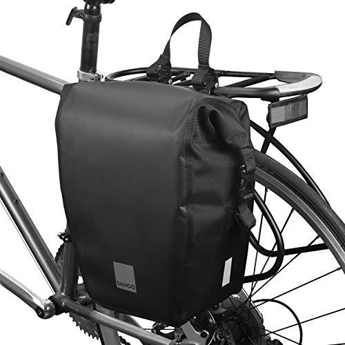 Lixada Bolsa Trasera Alforjas para Bicicleta 10L Impermeable Pannier Bag Bolsa de Viaje
