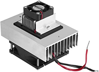 DC 12V Thermoelectric Peltier Cooler Refrigeration Cooling System Heat Sink Conduction Module Semiconductor Fridge Refrigeration Cooling System DIY Kit Mini Air Conditioner