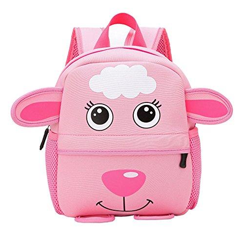 Kinderrucksack Animal Schule Tasche Rucksack for Kinder Baby Jungen Mädchen Kindergartenrucksack Babyrucksack Schulrucksack Groß Schaf *