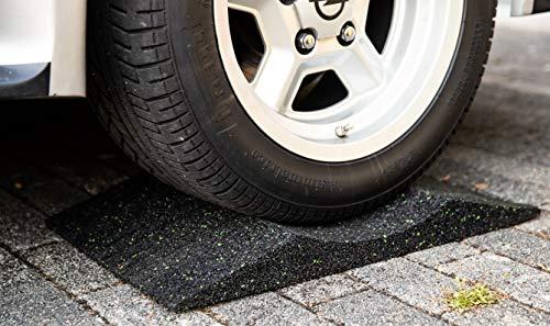 ( 4 Stück ) Reifenschuh Reifenbett Reifenwiege aus Gummigranulat 400mm breit bis 385er Reifen