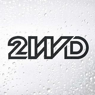 JKGHK Zwart/Zilver 2WD Auto Stickers Auto Stickers Vinyl Recht Patroon Ontwerp Waterdicht Nieuwe S525-Black_S 15 cm breed