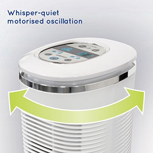 HoMedics HEPA Air Purifier - At Home Purifier Fan, Alleviates Allergy Infected Air, Eliminates up to 99% of Airborne Allergens, British Allergy Foundation Approved, Remote Control for Easy Use - White