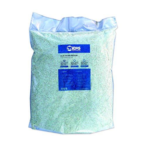well2wellness Filterglas für Pool Filteranlagen Grad 1 Körnung 0,5-1,0 mm, 20 kg Sack