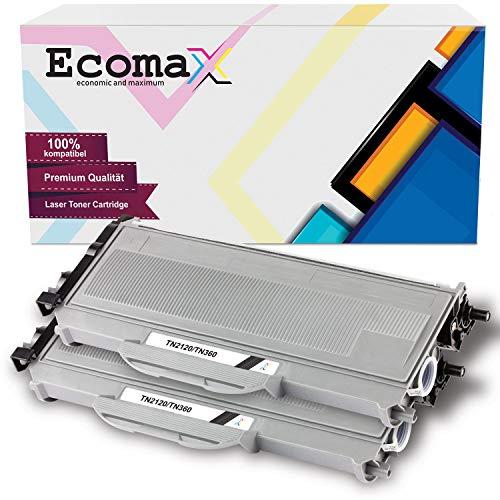 Ecomax 2 toner compatibel met Brother TN-2120 voor Brother DCP-7030 7040 7045N HL-2140 2150N 2170W MFC-7320 7340 7345DN 7440 7840WN