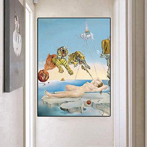 VGFTP Rompecabezas para Adultos Bricolaje de Madera Rompecabezas de 1000 Piezas Rompecabezas del Famoso Pintor Salvador Dali Rompecabezas Decoración de hogar Rompecabezas-Pintura Abstracta