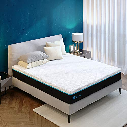 Queen Mattress, Avenco Queen Memory Foam Mattress in a Box, 10 Inch Gel-Infused Queen Size Mattress with Removable Plush Cover, Ultimate Comfort & Supportive CertiPUR-US & ISPA Certified