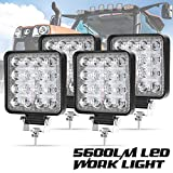 Liteway 4 Pcs LED Work Light - 4 Inch Flood LED Light Bar for Tractor Offroad 4WD Truck ATV UTV SUV Driving Lamp Daytime Running Light