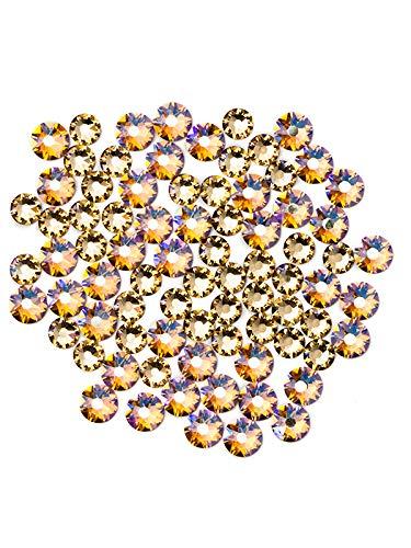 Swarovski - Create Your Style Xirius Rose Swarovski Flat Backs Flatback (Includes 80 Crystals), Topaz