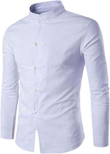 U/A - Camisa china tradicional china para hombre, manga larga ...
