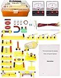 ZHIRCEKE Physics Science Lab Kit de circuitos básicos para Estudiantes de Secundaria/Senior Estudiantes de la Escuela Secundaria Equipo de Laboratorio eléctrico Real Stem Juguetes de Navidad