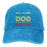 Todo lo Que me Importa es mi Perro y como Tal Vez 2 Personas Sombrero Gorra de béisbol Ajustable Gorra de Camionero de algodón Lavable Sombrero de papá