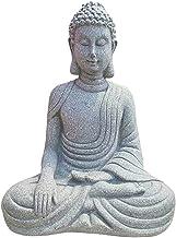 Flameer Meditating Buddha Ornament Figurine,Zen Buddha Statue Sculpture-Indoor/Outdoor Decor for Home,Garden,Patio,Deck,Po...