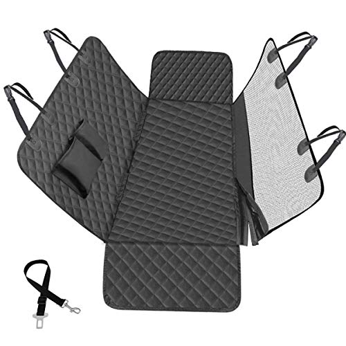 Vailge Dog Car Seat Covers Back with Viewing Window, Dog Car Seat Cover Waterproof Nonslip Scratch Proof Dog Car Hammock, Pet Dog Seat Cover with Side Flaps for Cars Trucks SUVs (Standard, Black)