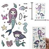 QAZXC Cute Mermaid Starfish Autoadesivi provvisori del Tatuaggio Oceano Bambini Arte Pittura Flash Tatuaggi Regalo per Bambini Tatuaggio Finto